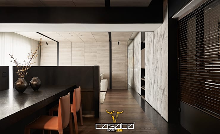 modern Dining room by CASABA