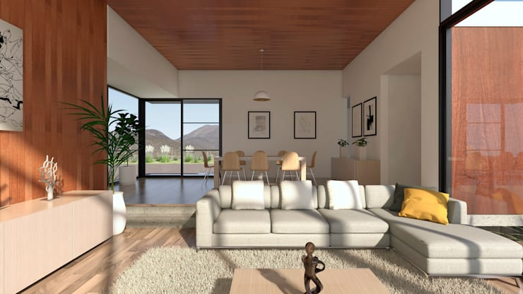 Vivienda Las Animas: Comedores de estilo  por Uno Arquitectura