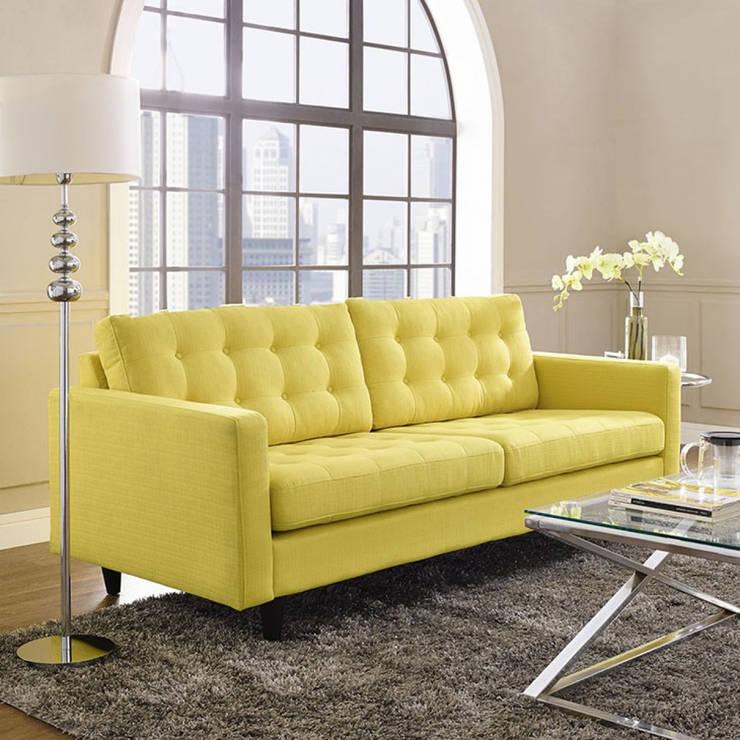 Sofa Empress Amarillo: Hogar de estilo  por BIANELLA