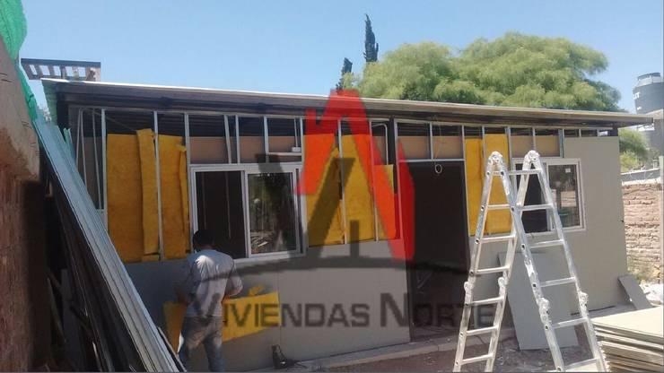 AVANCE DE OBRA - DEPARTAMENTO DEL ALGARROBAL, MENDOZA. :  de estilo  por Viviendas Norte,