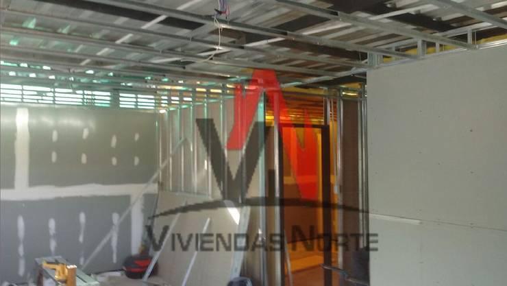 AVANCE DE OBRA – DEPARTAMENTO DEL ALGARROBAL, MENDOZA. :  de estilo  por Viviendas Norte,