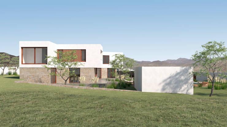 Vivienda La Chimba: Casas de campo de estilo  por Uno Arquitectura