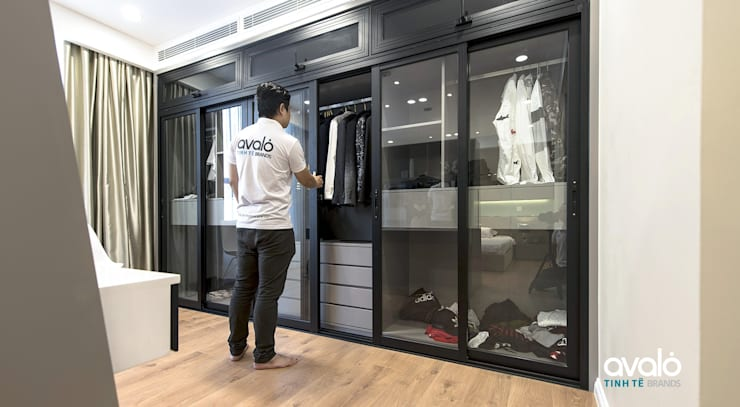 Căn hộ Park Hill ấm cúng và tiện dụng:  Phòng thay đồ by Công ty cổ phần NỘI THẤT AVALO
