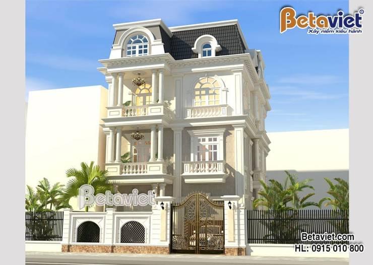 Phối cảnh mẫu biệt thự đẹp 3 tầng Tân cổ điển  BT16011:   by Công Ty CP Kiến Trúc và Xây Dựng Betaviet