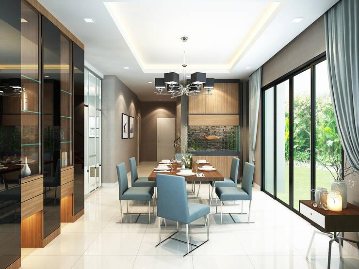 โครงการออกแบบตกแต่ง บ้านพักอาศัย 2 ชั้น บางกอกบูเลอวาร์ด รามอินทรา:   by taisilp interior
