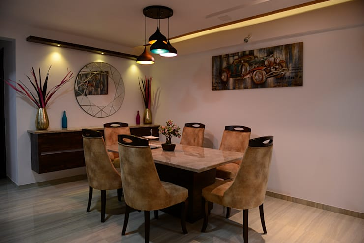 3Bhk Resi at Vasant oasis:   by Vinayak Interior | Interior Designing and Decorator Companies