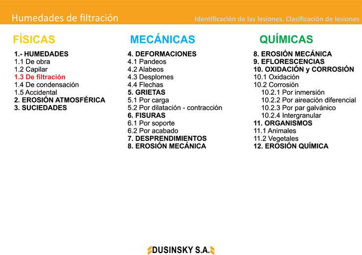 CLASIFICACION DE LESIONES:  de estilo  por DUSINSKY S.A.