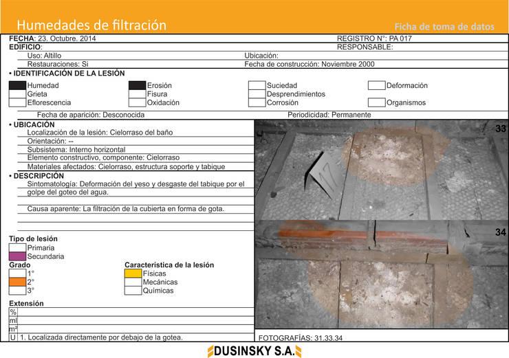 FICHA DE DATOS III:  de estilo  por DUSINSKY S.A.