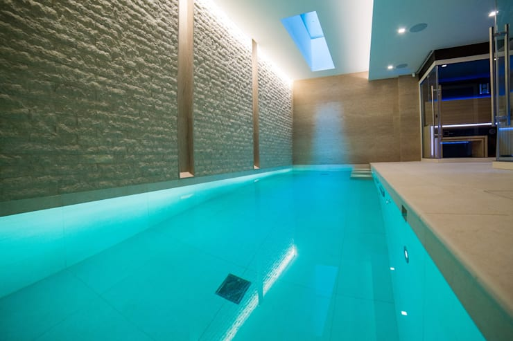 Luxury Indoor Pool with Counter Current Unit and Automatic ...