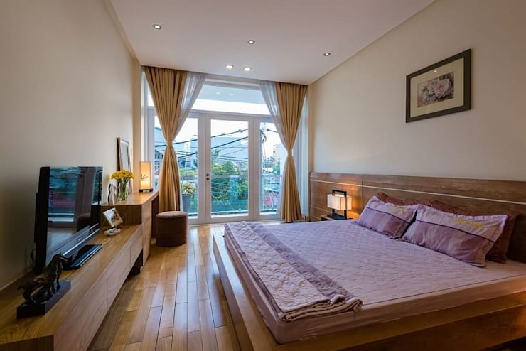 Phòng ngủ:  Phòng ngủ by Công ty TNHH Xây Dựng TM – DV Song Phát