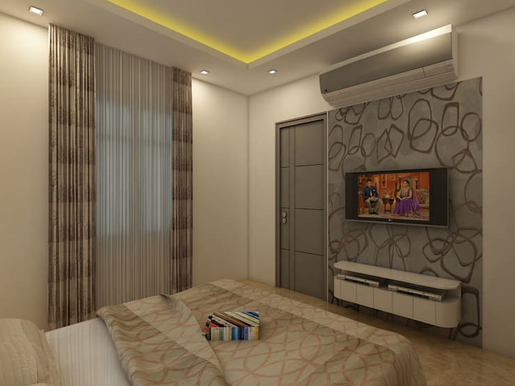 Bedroom T.V Unit: modern Bedroom by Regalias India Interiors & Infrastructure