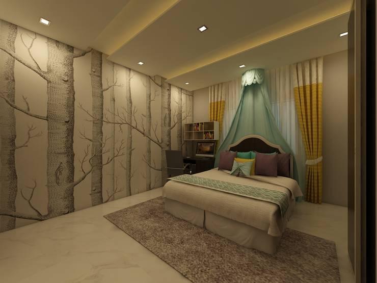 Bedroom :  Bedroom by Regalias India Interiors & Infrastructure