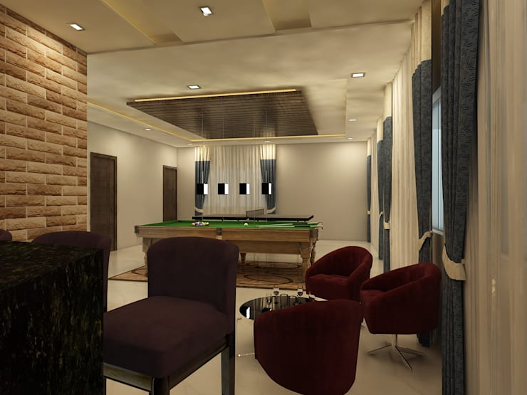 Indoor Gaming Area:  Corridor & hallway by Regalias India Interiors & Infrastructure