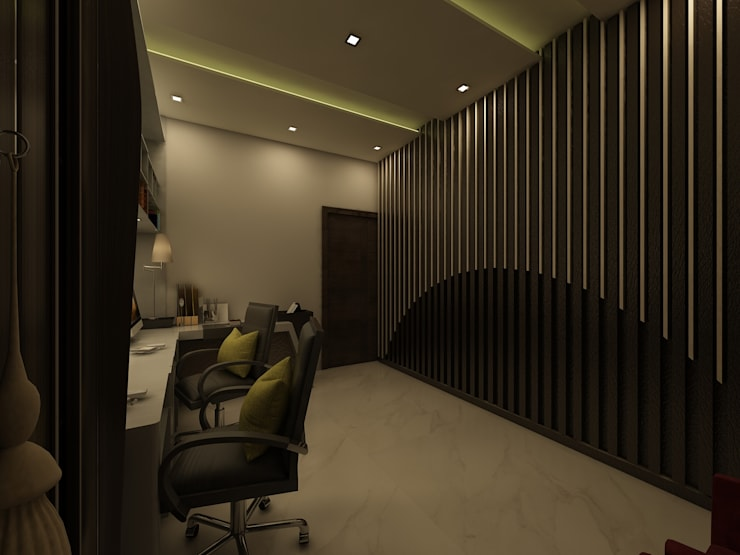 Office & Study Space:  Study/office by Regalias India Interiors & Infrastructure