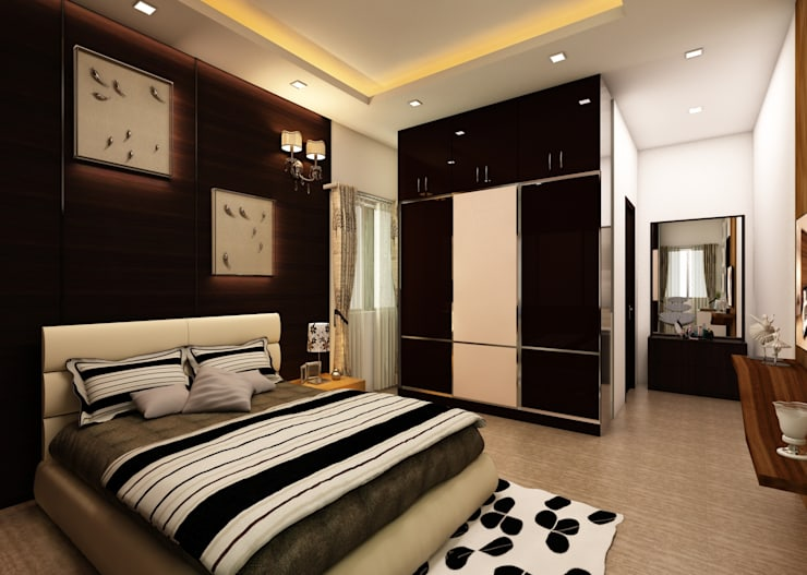 Bedroom:  Bedroom by Regalias India Interiors & Infrastructure