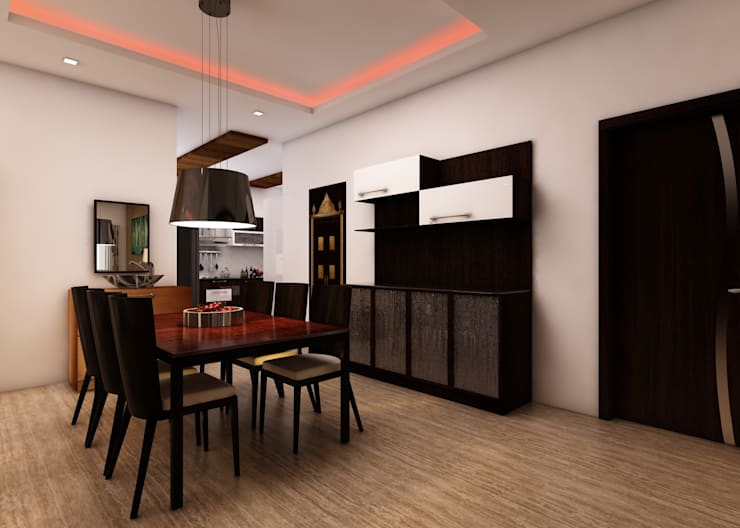 Nageshwar Rao:  Dining room by Regalias India Interiors & Infrastructure