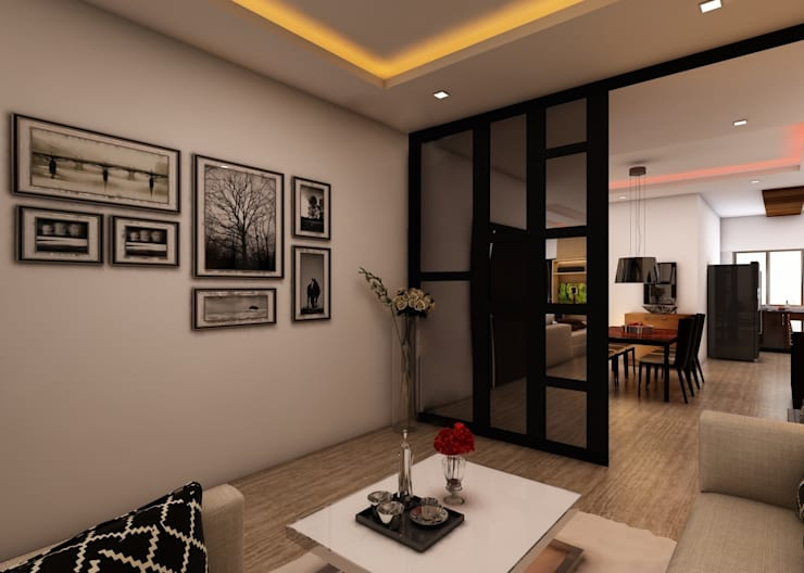 Living Room :  Living room by Regalias India Interiors & Infrastructure