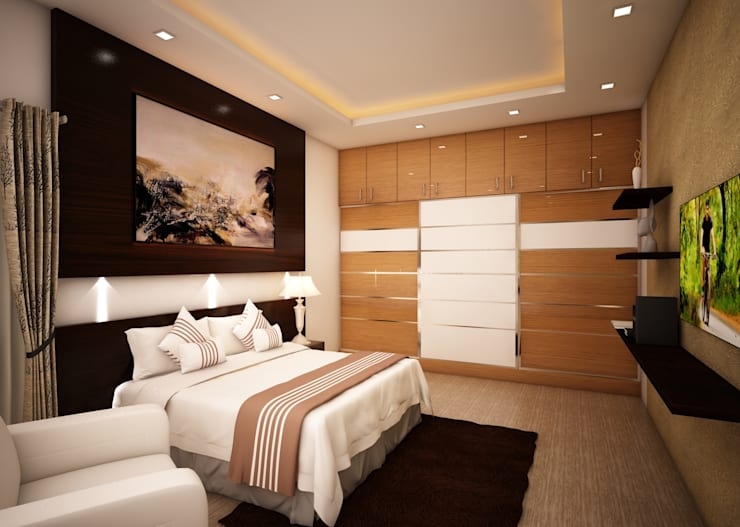 Living Room:  Bedroom by Regalias India Interiors & Infrastructure