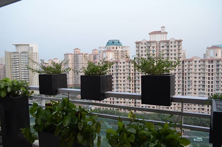 Apartment at Icon, DLF5, Gurgaon: rustic  by Grecor,Rustic