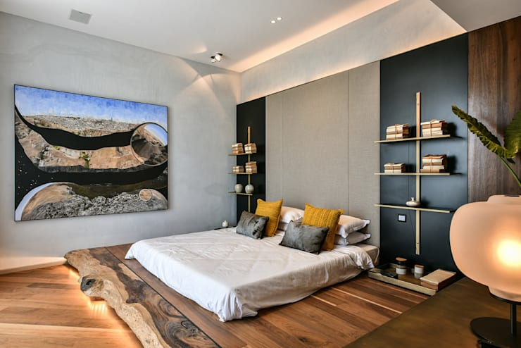 Premium Villa : minimalistic Bedroom by Racheta Interiors Pvt Limited