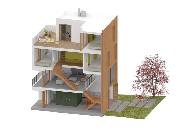 CPO lofthuis Utrecht:  Eengezinswoning door Bergblick interieurarchitectuur, Modern