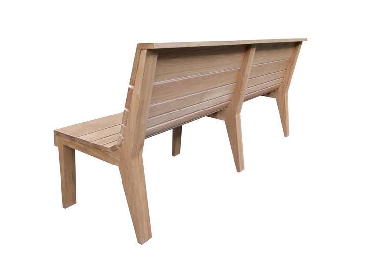 Eettafelbank: modern  door Bergblick interieurarchitectuur, Modern Massief hout Bont