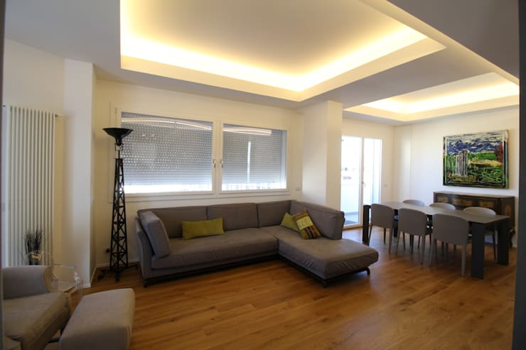 Salas de estar  por Giuseppe Rappa & Angelo M. Castiglione, Moderno