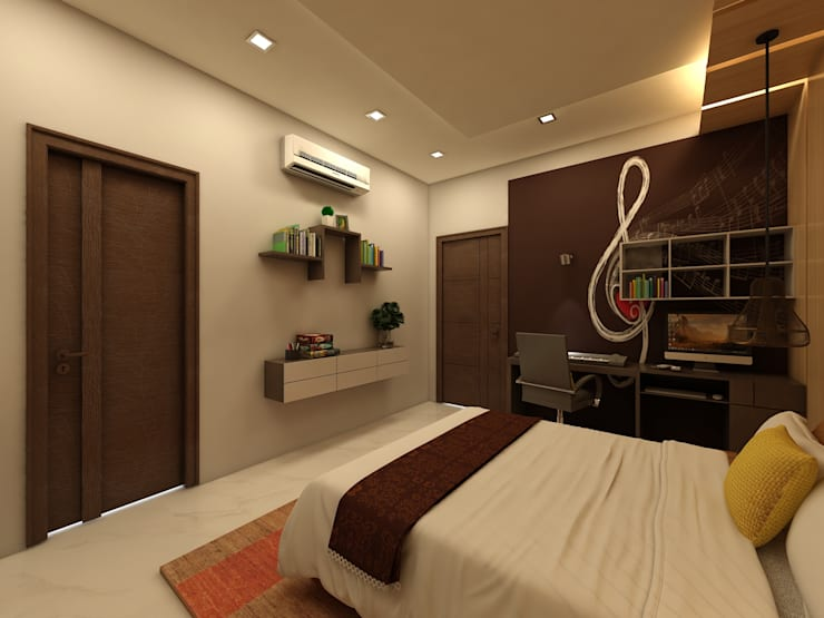 Bedroom : modern Bedroom by Regalias India Interiors & Infrastructure