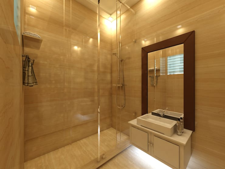 Bathroom : modern Bathroom by Regalias India Interiors & Infrastructure