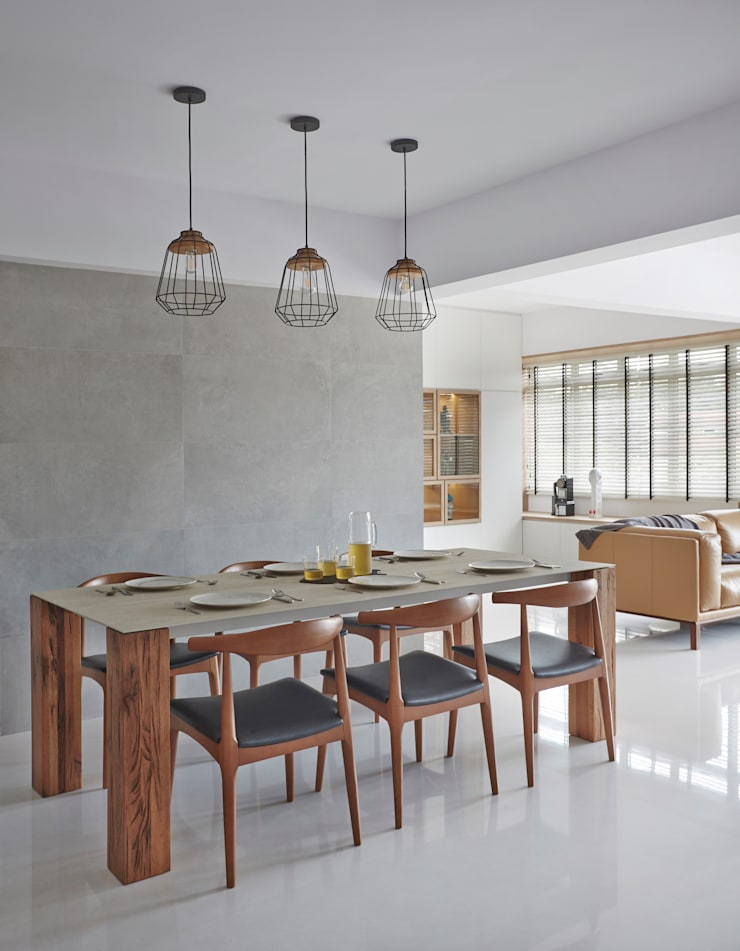 CLEMENTI PARK: scandinavian Dining room by Eightytwo Pte Ltd