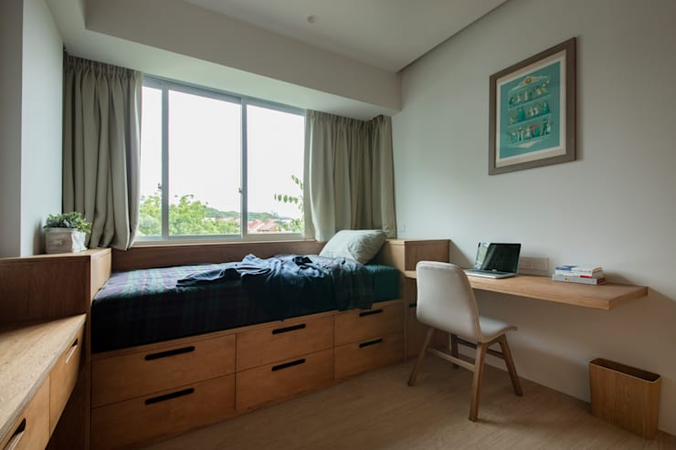 THE STELLAR: minimalistic Bedroom by Eightytwo Pte Ltd
