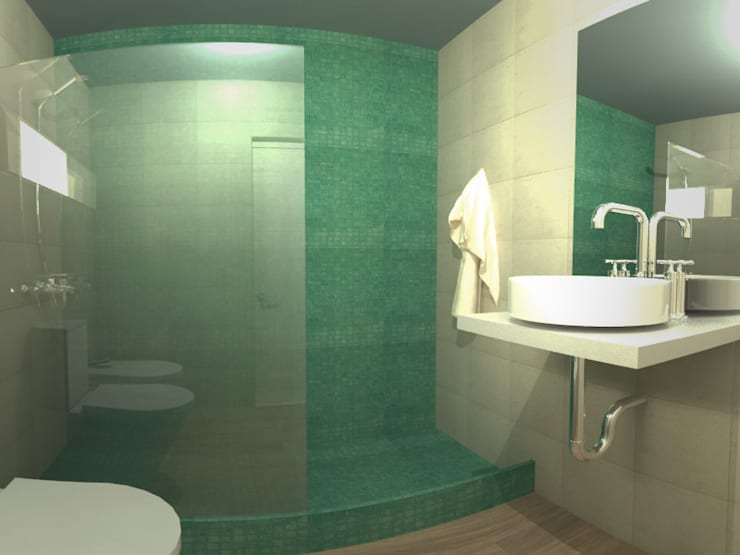 Casa Norita : Baños de estilo  por CRea - Arquitectura + Diseño,