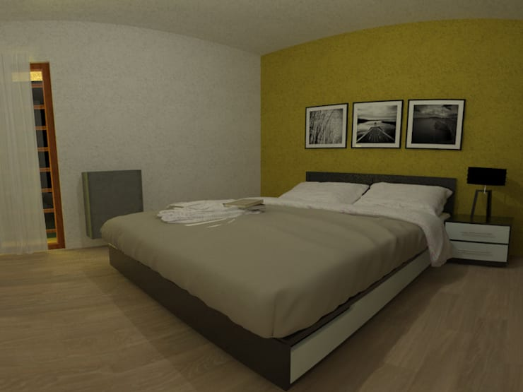 Casa Norita : Dormitorios de estilo  por CRea - Arquitectura + Diseño,