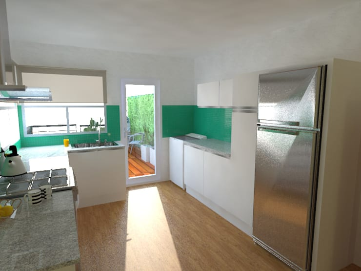 Casa Norita : Cocinas a medida  de estilo  por CRea - Arquitectura + Diseño,