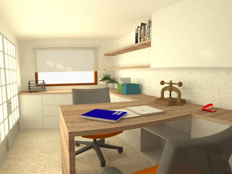 Casa Norita : Estudios y oficinas de estilo  por CRea - Arquitectura + Diseño,