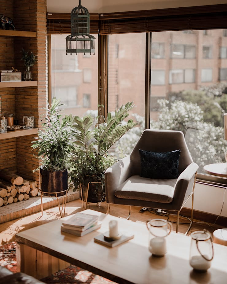 Apto Rema: Habitaciones de estilo  por Redesign Studio