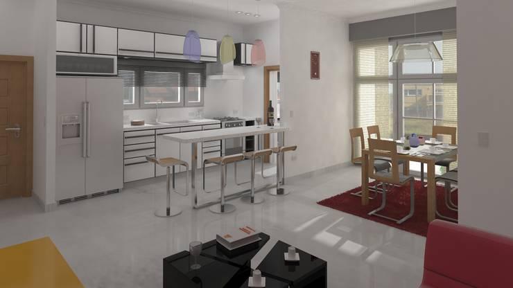 De estar a cocina:  de estilo  por DUSINSKY S.A.
