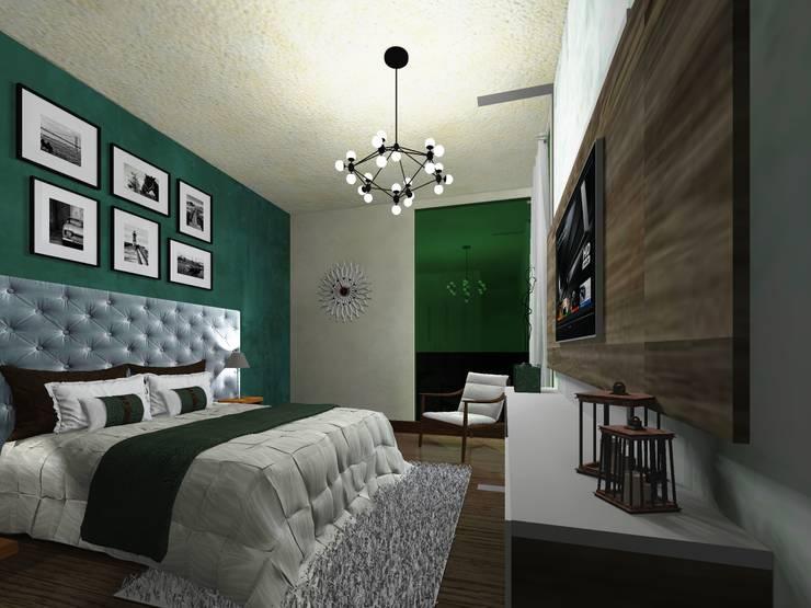 Recamara principal : Recámaras de estilo minimalista por HC Arquitecto