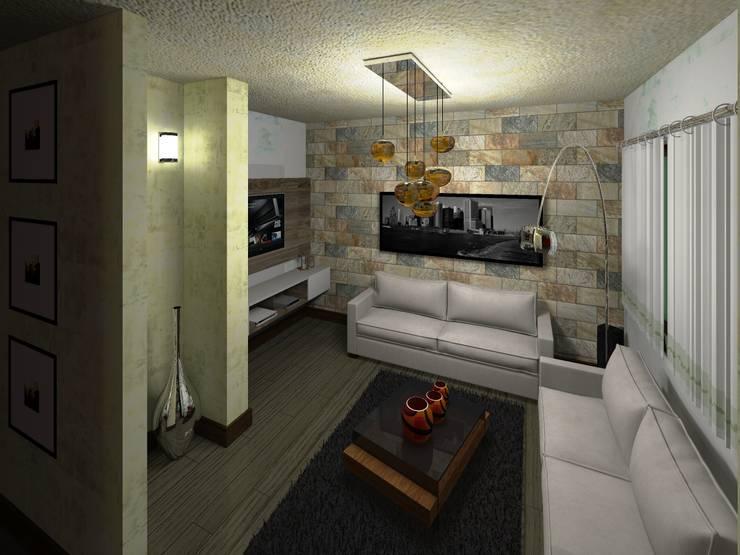Sala : Salas de estilo minimalista por HC Arquitecto