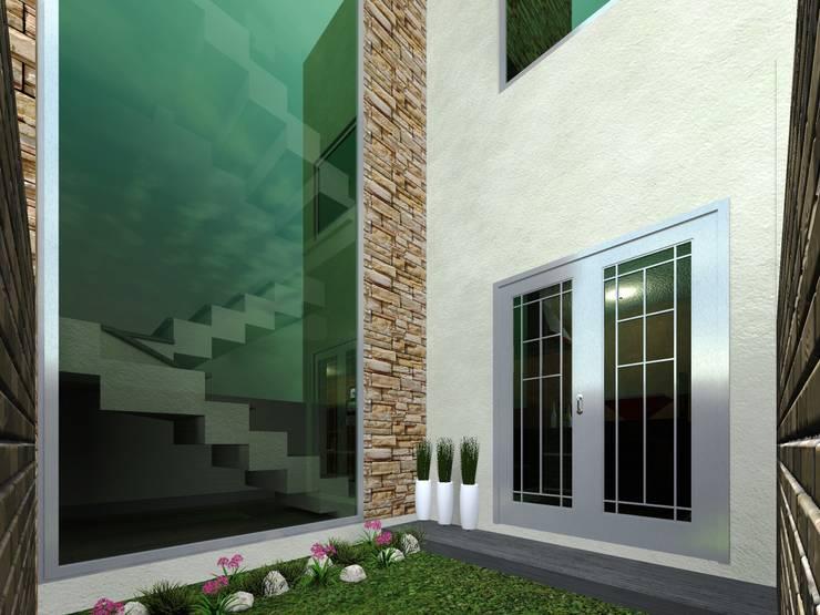 Jardin Posterior: Jardines de estilo minimalista por HC Arquitecto