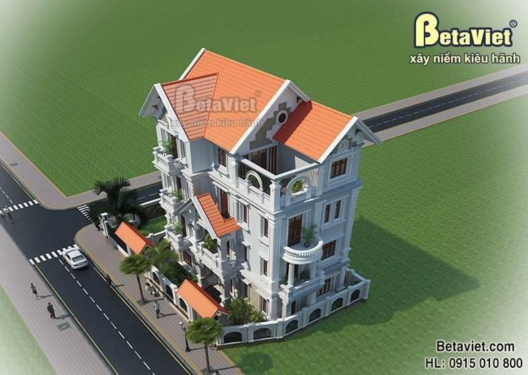 Phối cảnh biệt thự đẹp 4 tầng tân cổ điển BT15059:   by Công Ty CP Kiến Trúc và Xây Dựng Betaviet