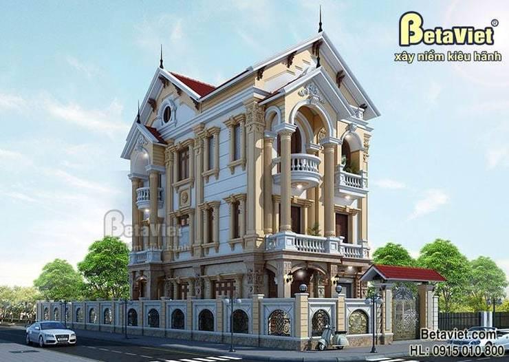Phối cảnh mẫu biệt thự đẹp 3 tầng cổ điển BT15060:   by Công Ty CP Kiến Trúc và Xây Dựng Betaviet