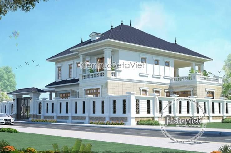 Phối cảnh thiết kế biệt thự nhà vườn 2 tầng Hiện đại KT16082:   by Công Ty CP Kiến Trúc và Xây Dựng Betaviet