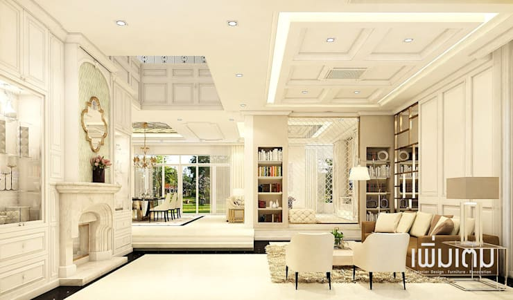 Living Room:   by เพิ่มเติม l interior design