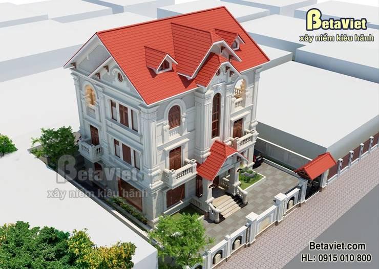 Phối cảnh mẫu biệt thự nhà đẹp 3 tầng Cổ điển BT14526:   by Công Ty CP Kiến Trúc và Xây Dựng Betaviet