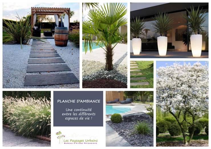 Planches d'ambiance: Jardin de style  par LES PAYSAGES URBAINS