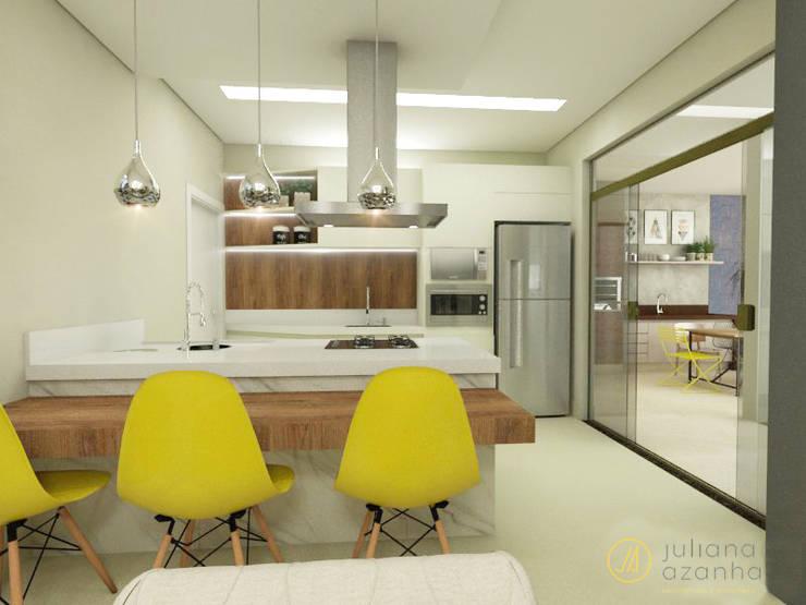 Residência PC: Cozinhas modernas por Juliana Azanha | Arquitetura e Interiores
