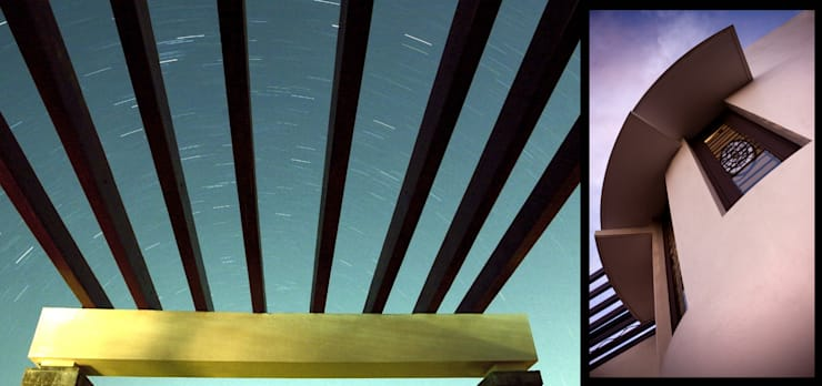 Pergolas and shades:  Terrace by Myriadhues,Country Wood Wood effect