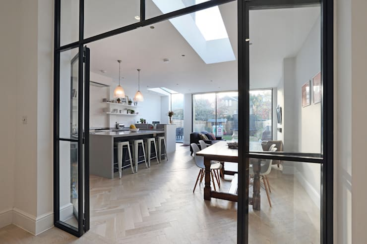Edwardian meets contemporary; Teddington Family Home:  Dining room by PAD ARCHITECTS