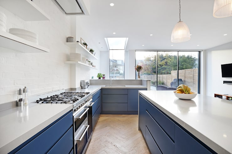 Edwardian meets contemporary; Teddington Family Home:  Kitchen by PAD ARCHITECTS